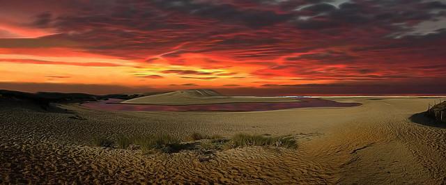 January Sunset on the Beach