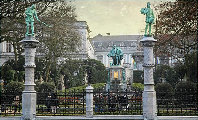 Square du Petit Sablon, place du Petit Sablon, Bruxelles, Brussel, Belgium