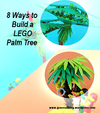 8 Ways to Build a LEGO Palm Tree (custom built Lego model)