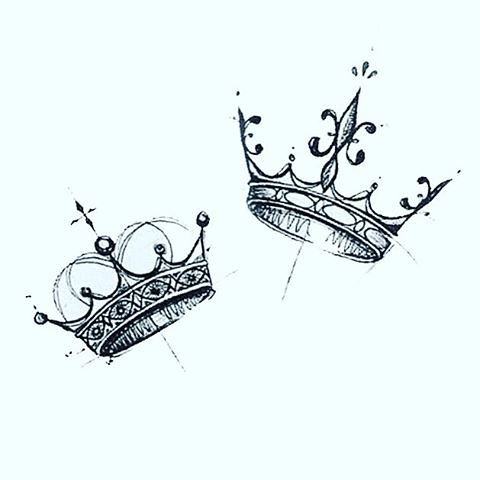 Sketch Style King Queen Crowns Dm Me For Appointments Flickr