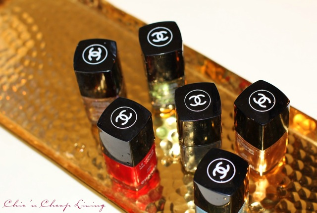 Chanel nail polish tops by Chic n Cheap Living