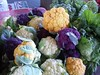 Colorful Cauliflower at Farmers Market