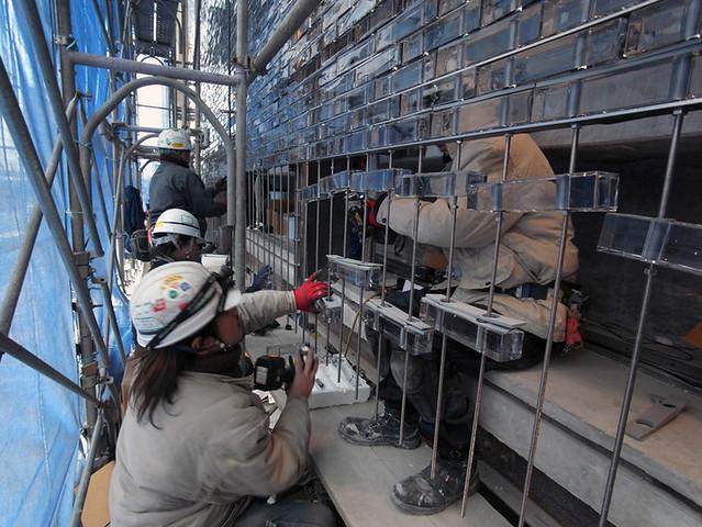 Photo:中村拓志 Hiroshi Nakamura & NAP建築設計事務所 - Optical Glass House - construction 06.jpg By 準建築人手札網站 Forgemind ArchiMedia