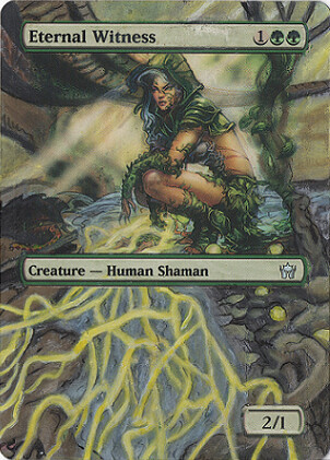 Eternal Witness Altered Art Magic the gathering MTG Card Art Legacy Commander Deck card Eternal Witness mtg Magic Card illustration