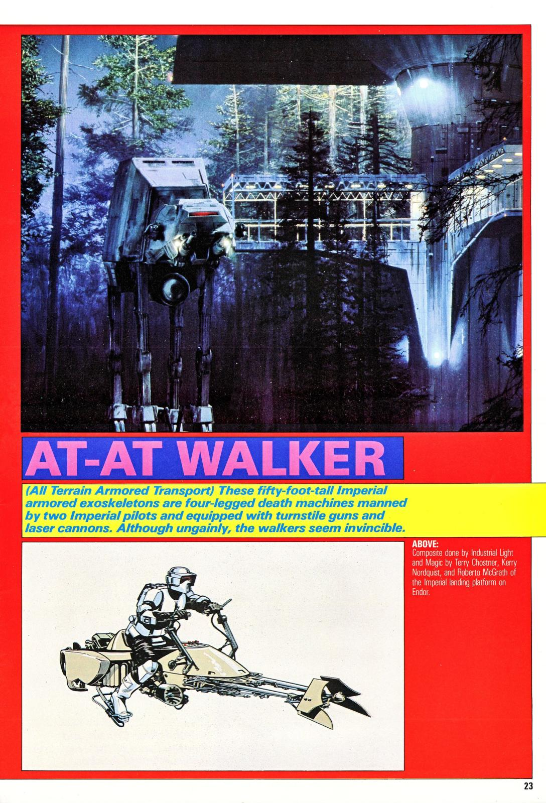 star wars return of the jedi compendium at-at endor 1983