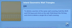 Island Geometrioc Wall Triangles 3