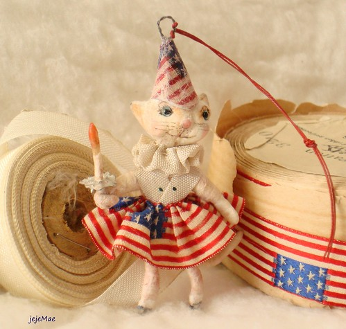 spun cotton patriotic cat girl  jejeMae