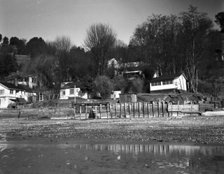 Perkins Lane from beach, 1951