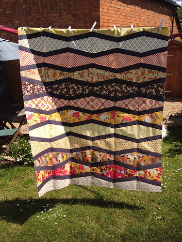 New Wave Quilt WIP