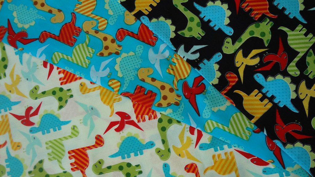 Fabric dinosaur bug car tractor hobby 100 cotton for boys for Grey dinosaur fabric