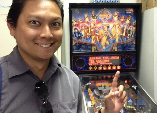 Office Doctor Who pinball machine