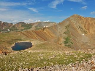 Cronin Peak (13,878 ft) With Lake