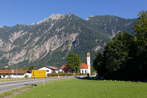 An der Ettaler Straße in Oberau