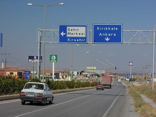 Kirsehir方向へ