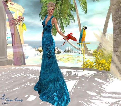Paris Metro Couture: s'agapw mazi mu-TropicalBlue *(gift)* by Dyana Serenity Blogger Second Life *Thanks to all