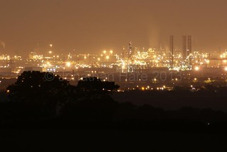 Teesmouth Industry at night