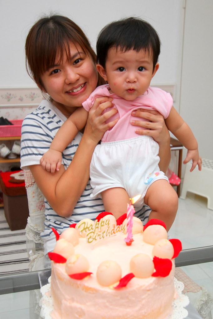 baby Romeo loving Lychee Cake