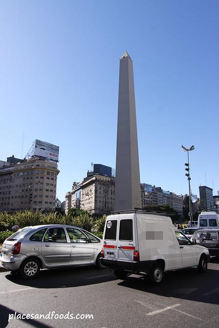 9 de Julio Avenue Obelisco de Buenos Aires