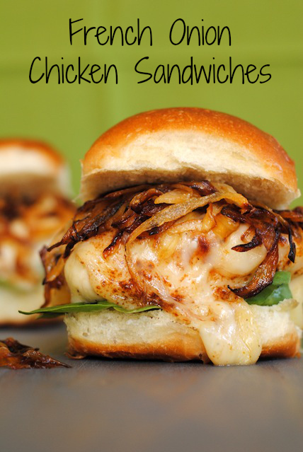 French Onion Chicken Sandwiches