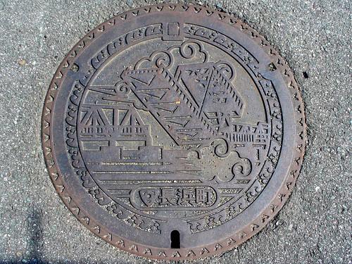 Nagahama Ehime , manhole cover (愛媛県長浜町のマンホール)