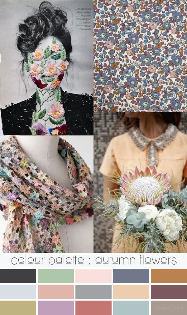 colour palette : autumn flowers | Emma Lamb