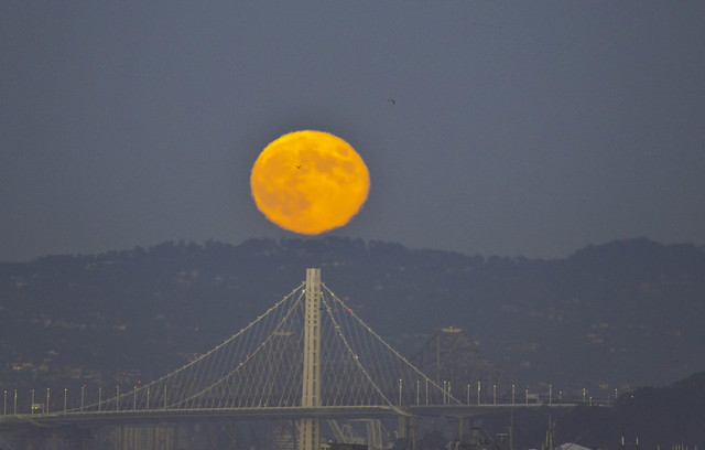 Full Moon over Bay Bridge 1