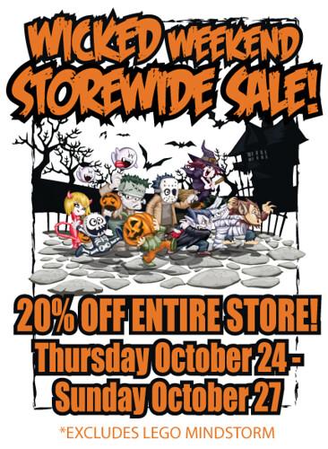 Halloween store wide sale 2013