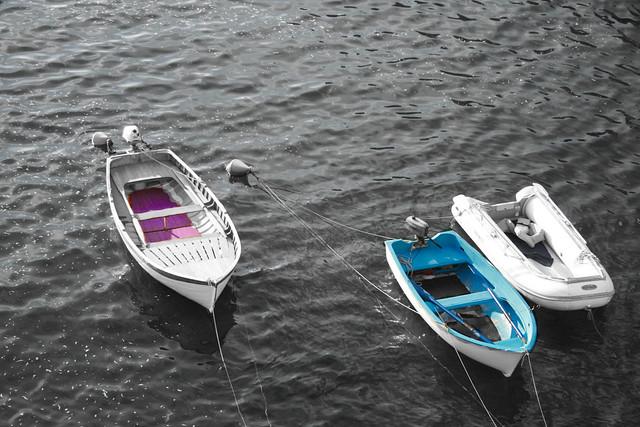 afloat