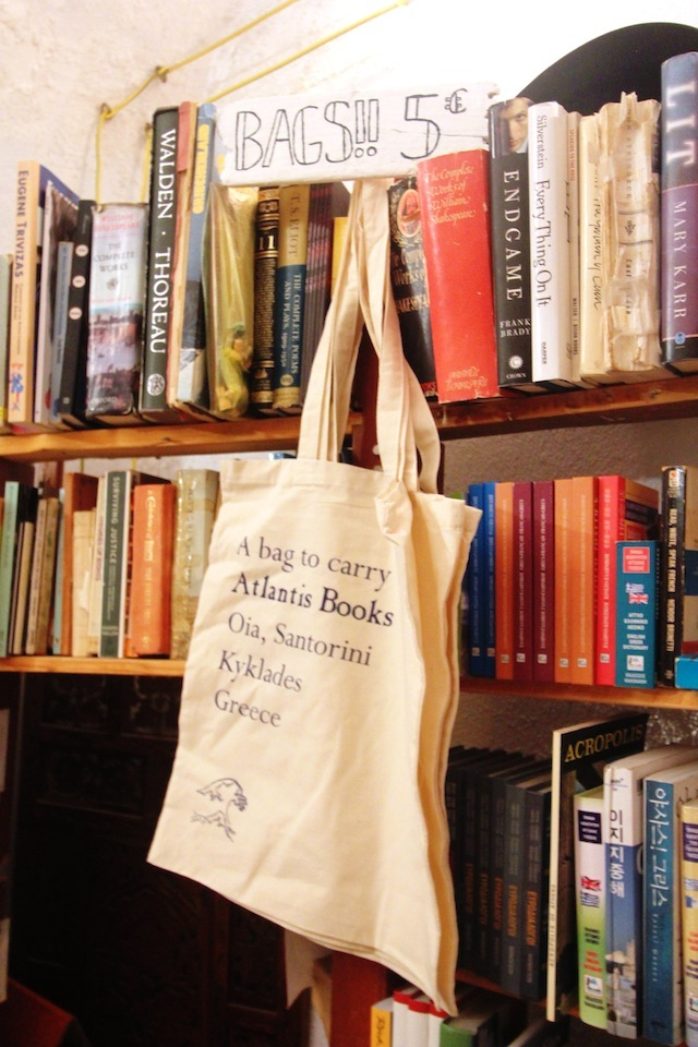 Atlantis Books Oia canvas bag