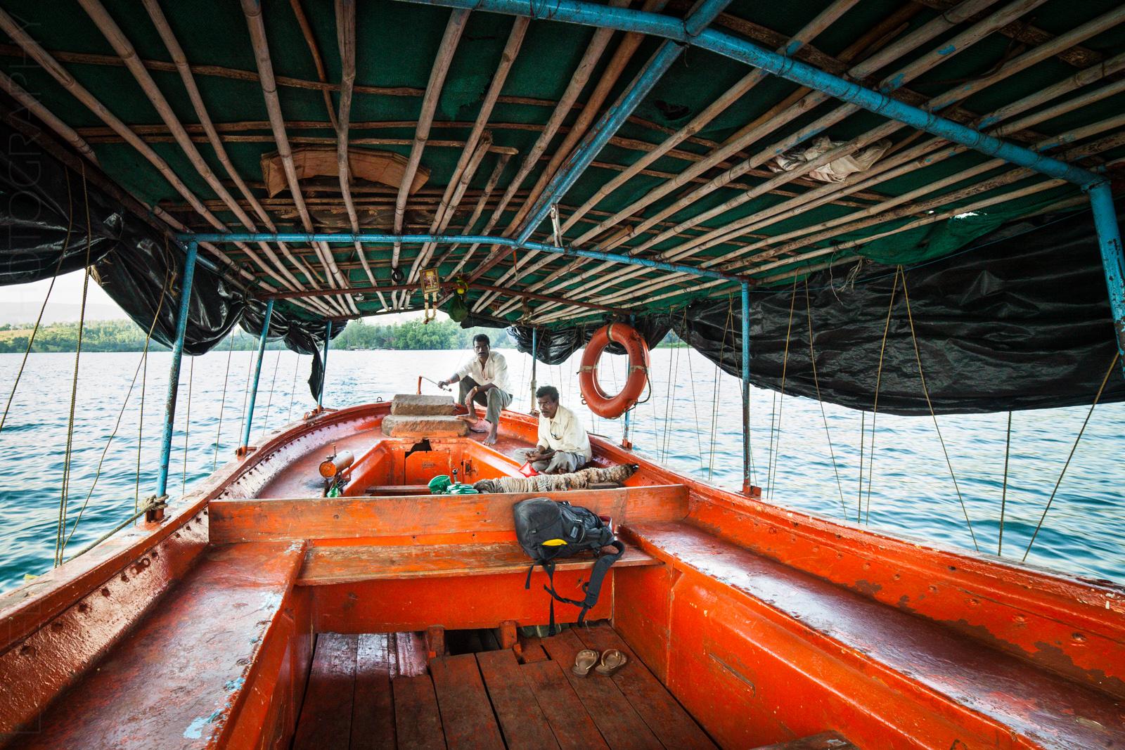 Boat ride at Bamnoli