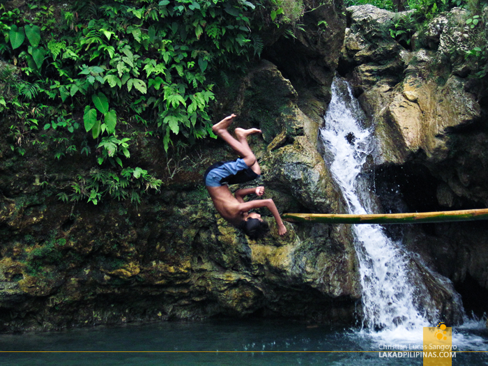 Somersaulting Kids at Dalipuga Falls in Iligan City