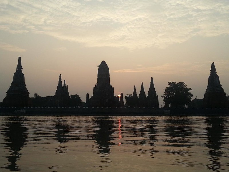 River tour of Ayutthaya temples.