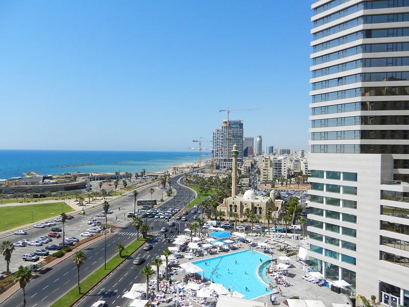 Набережная Тель Авива. Вид из отеля