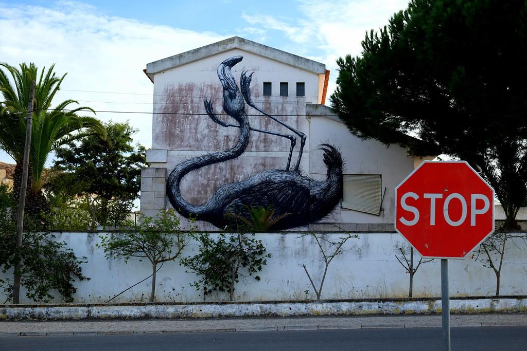 "streetart | roa | \""artur festival\"" . lagos . portugal"