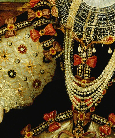 Portrait of Elizabeth I of England, (detail) by George Gower, ca.1588