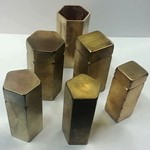 Six bronze boxes