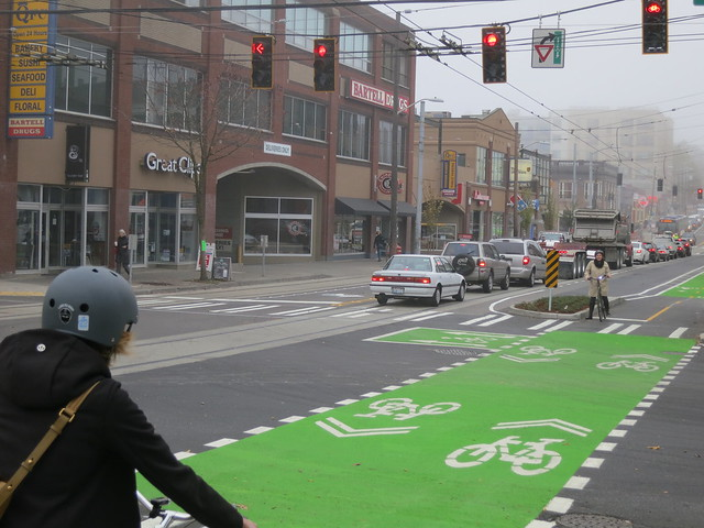 Broadway Cycle Track (Image Credit: SDOT Photos/Flickr)