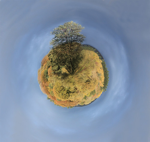Tiny planet in autumn by Helen in Wales