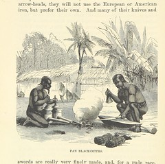 """British Library digitised image from page 106 of """"Adventures in the Great Forest of Equatorial Africa and the country of the dwarfs .. An abridged ... edition ... With ... illustrations"""""""