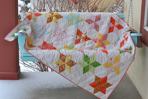 Cozy Starflower Quilt!