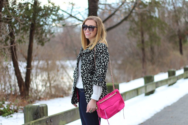 Leopard Coat, Hot Pink Bag, Deco Jewelry : Living After Midnite