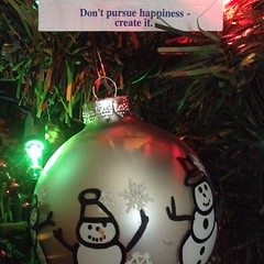 Fortune cookie wisdom + holiday lights.