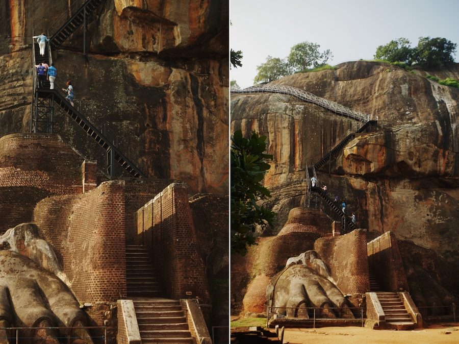sigiriya lion staircase