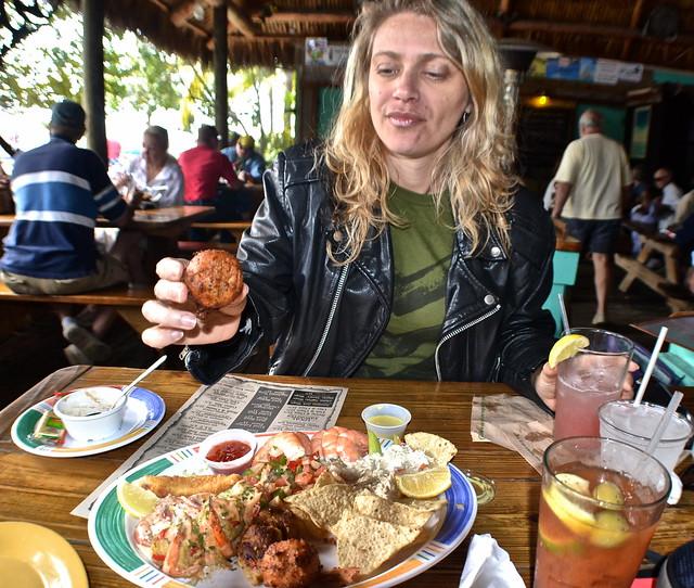 Hog Fish Bar and Grill - Key West, Florida - tasting everything