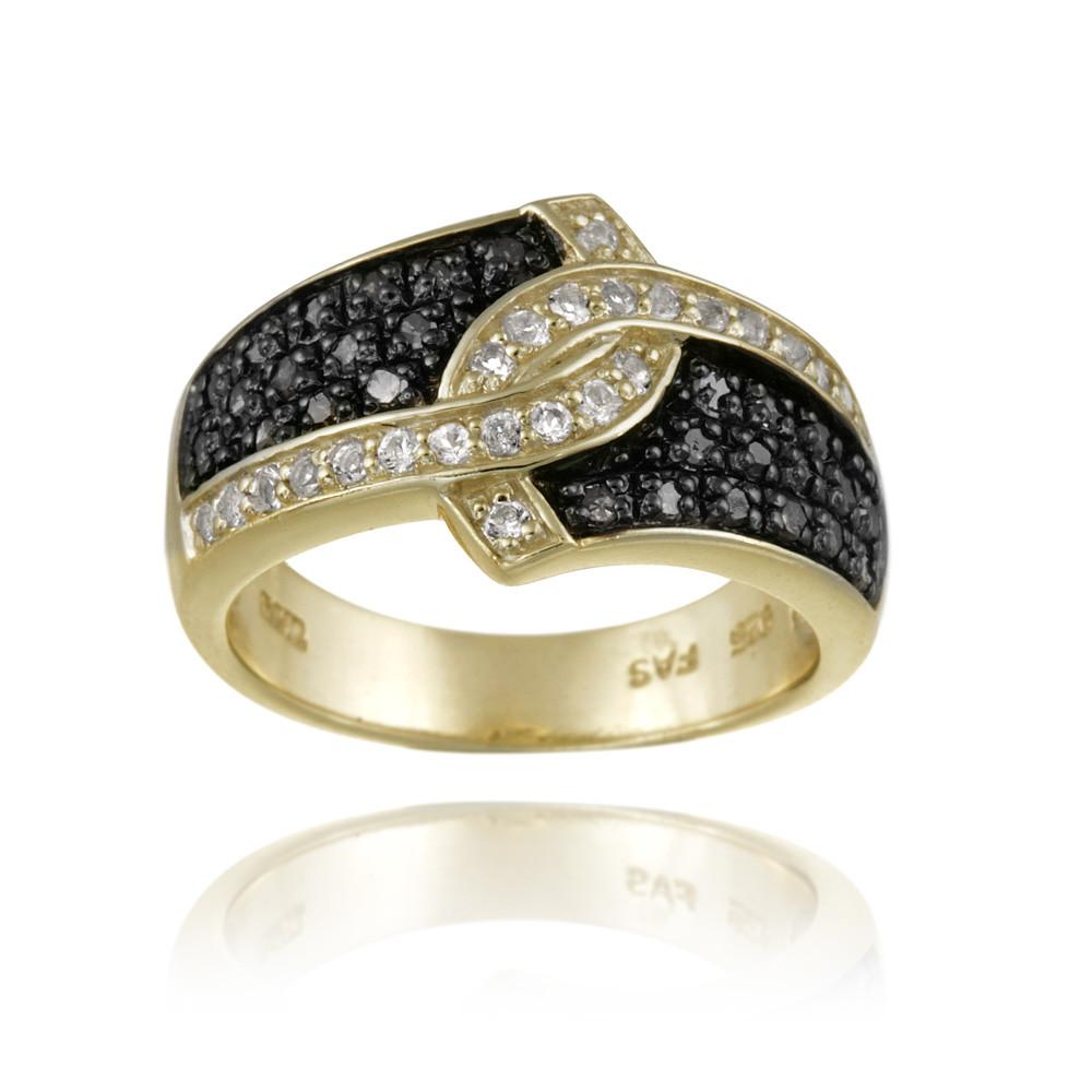 1 3ct schwarzer diamant wei topas gold ber silberring ebay. Black Bedroom Furniture Sets. Home Design Ideas