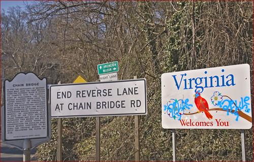 'Signs' -- Chain Bridge (VA) January 2014
