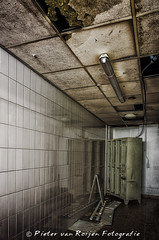 Tropicana, the abandoned swimming pool: the changing room for staff