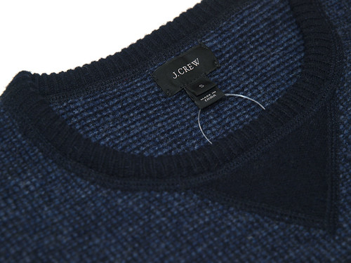 J.Crew / Lambswool Sweatshirt Sweater , Lambswool Shawl-Collar Sweatshirt