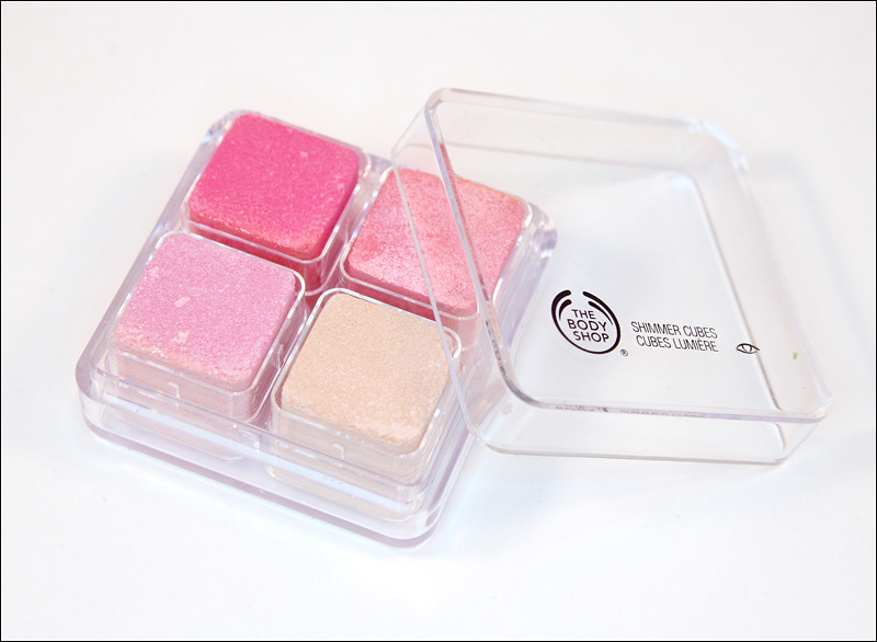 The Body Shop 26 pink shimmer cubes