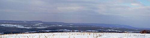 snow clouds bluemountains cornfields niagaraescarpment drumlins 4shotpanorama glenhuronsideroad